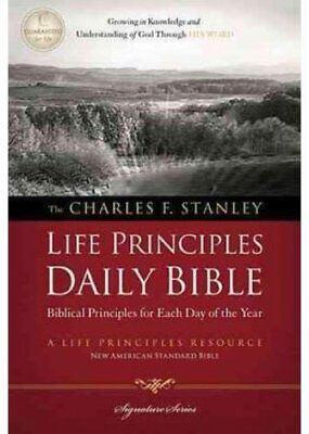 Charles F. Stanley Life Principles Daily Bible by Thomas Nelson Publishing...