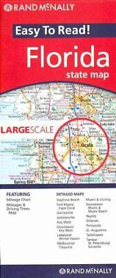 Florida State Map Easy to Read by Rand McNally 9780528881176