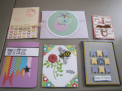 Set Of 7 Handmade Cards Birthday Note Card Thank You Friends Bee