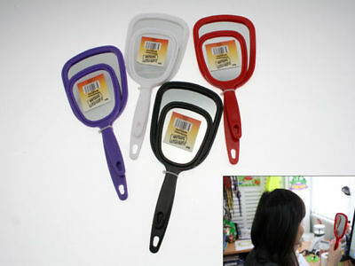 12 x Two Pack Personal Hand Mirrors 4 Assorted Colours 19cm and 22cm