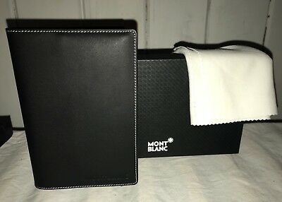 Montblanc Black Leather Notepad Notebook Case Diary Mind Notes Made In Germany