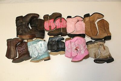 Kids Cowboy Youth USED Collection Lot Boots Wholesale Roper Durango Ariat dHpT