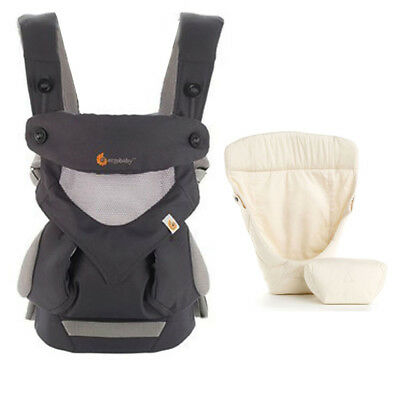 Ergobaby Cool Air Mesh 3 Position Baby Carrier Charcoal