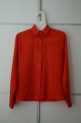 Vintage Bluse Hemd Blouse Lady Manhattan 70s rot