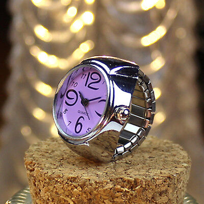 Very Smart  Ladies // Girls Lilac  Quartz Ring Watch With Flexible Fit All Band