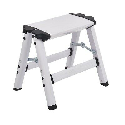 Folding Step Stool Aluminum Metal Step Ladder Stools for Home Kitchen 220lbs