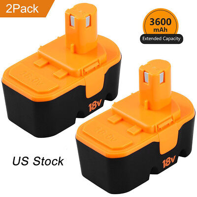 2-New 3.6AH Replace for Ryobi 18V Battery ONE+P100 P107 P108 P122 P104 P105 P102
