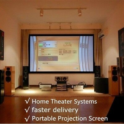 Business Home Cinema Projection Screen Projector Curtain Durable School Lobbies