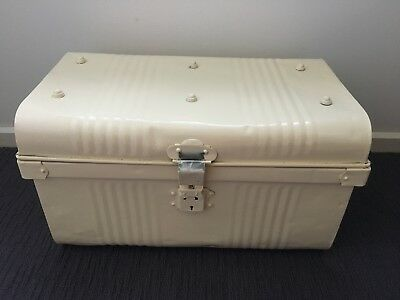 Vintage Tin Metal Trunk