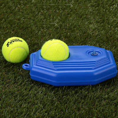 Tennis Ball Training Practice Base Trainer Tool For Beginners Plastic Blue