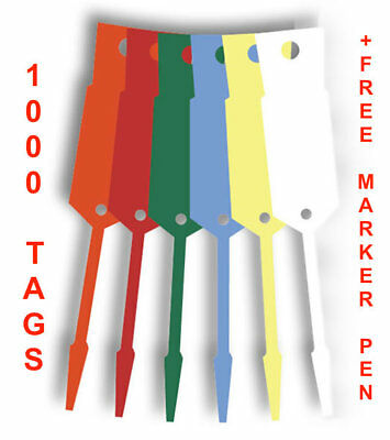 Disposable Workshop Vinyl Key Tags x 1000 With Free Felt Tip Marker-FREE POSTAGE