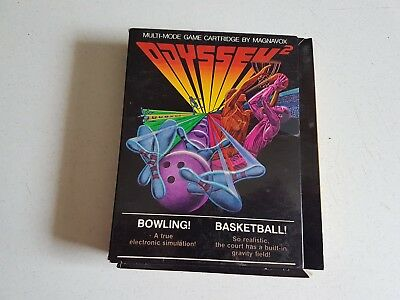 Vtg Cartridge Bowling + Odyssey 2 for Computer Video Game System Magnavox 1978