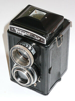Voigtlander Focussing Brillant. Heliar. Compur. Tested. New Mirror. Erc. Meter.