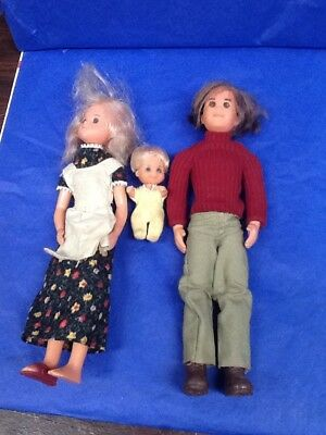 Mattel 1973 Sunshine Family Dolls