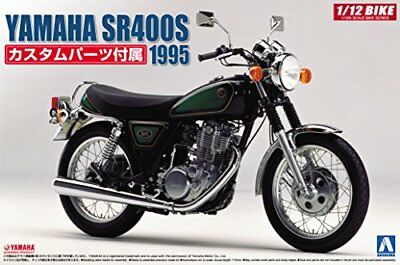 Aoshima 1/12 BIKE Yamaha SR400S with Custom Parts Plastic Model Kit from Japan
