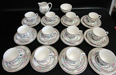 Vintage Lord Nelson Ware Indian Tree 38 Piece Tea Set For 12 People