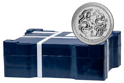 Monster Box of 400 -2018 Niue 1 oz Silver Double Dragon Pearl Wisdom $2 SKU53657