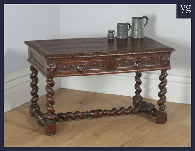 Antique French Carved Green Man Oak Coffee Centre Occasional Side Table c.1860