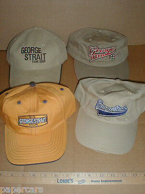 George Strait Baseball Tour Hat cap NEW Lot x4 RARE 2006 Somewhere Down in Texas