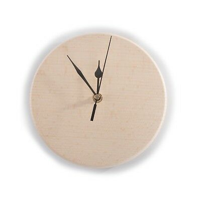 Wooden Wall Clock / Round / Ø 20cm / Solid Unpainted Wood / Decoupage / Craft
