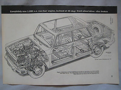 Lancia Fulvia Cutaway Drawing No.2