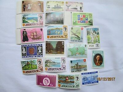Jersey Stamps Isle of Man/ Guernsey Fiji & UK Stamps Mint Condition Collectable