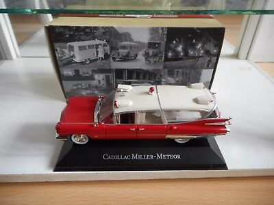 Atlas Cadillac Miller Meteor Ambulance in Red/White on 1:43 in Box