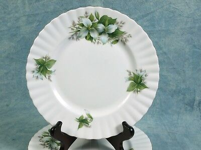 Vintage Royal Albert Trillium LUNCHEON SALAD PLATE Classy gold white green