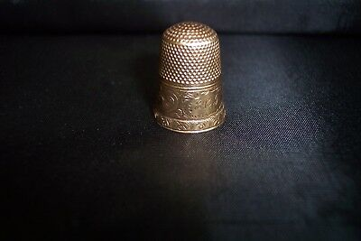 Antique Vintage Victorian 10K Gold Sewing Thimble