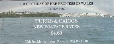 (13421) Turks and Caicos Princess Diana 21st Birthday Stamp Booklet 1982