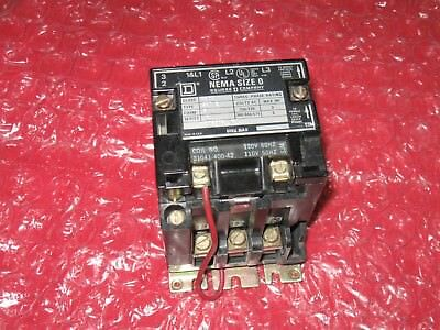 Square D size 0 starter contactor, 8502 SB02, New OS
