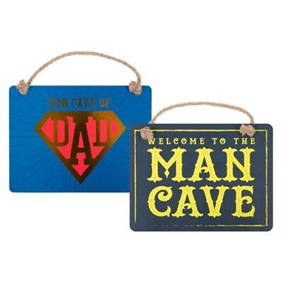 Man Cave Plaque Sign Fathers Day Xmas Dad Daddy Gift Garage Shed Door Sign
