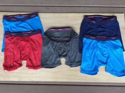 Hanes Boys Youth X-Temp Performance Cool Embossed Boxer Brief, 5 Pack, Youth XL