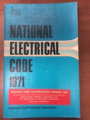 Vintage 1971 National Electrical Code Book Softcover