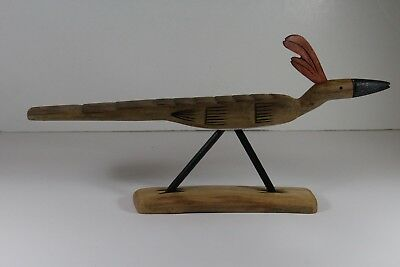 Zuni Carved Cottonwood Road Runner by Loy Lewis