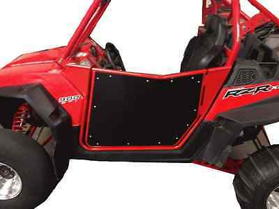 Polaris RZR Doors, Fit XP 900, 570, 800, Bear Claw Style, Red/Black