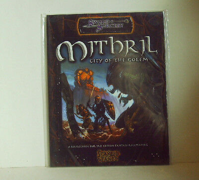 Sword & Sorcery * MITHRIL * City of the Golem - D&D 3rd. Ed.- 112 S. Sc. - engl.