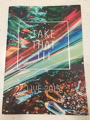 Take That Signed Programme 2015