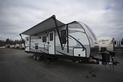 Mpg Cruiser 2800Qb Travel Trailer Bunkhouse Rv Camper Outside Kitchen