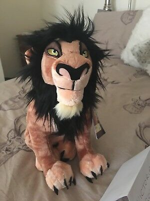 "Disney Store Parks 15"" Scar Plush Soft Toy The Lion King Villain With Tag"
