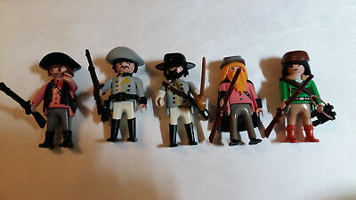 5 SÜDSTAATEN SOLDATEN CIVIL WAR 1861-1865 vs. INDIANER WESTERN TOP PLAYMOBIL