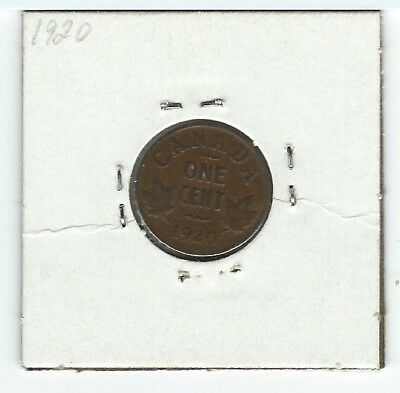 Canada - 1920 1 Cent Kgv Penny Coin In Vg Condition