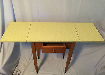 Vintage Mid Century Modern Yellow formica table