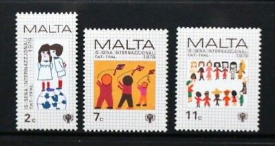 MALTA 1979 International Year of the Child. Set of 3. Mint Never Hinged SG627/29