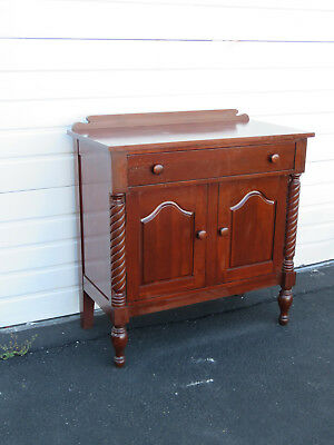Early 1900s Solid Cherry Server Sideboard Buffet Console 8853