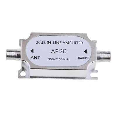 Satellite Signal Booster Gain Inline Amplifier 950-2150MHZ for RG6 Cables