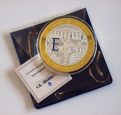 "S90- Medaille GIGANT EUROPA ""Freedom * PEACE * Solidarity "" EURO Gold Silber PP"