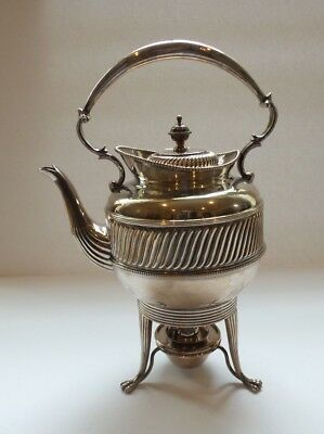 Mappin & Webb Silver Plate Hot Water Kettle on Stand