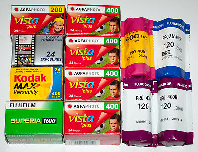 Job Lot of Expired Outdated 35mm & 120 Film C41 E6 Kodak Fuji Agfa Refrigerated