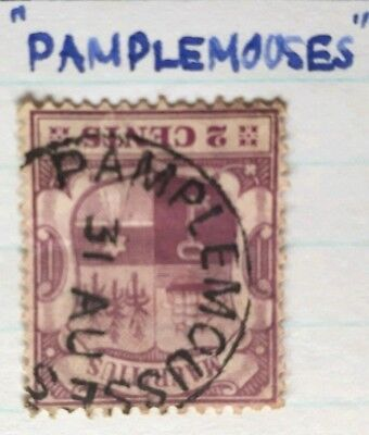 1910 Mauritius 2c Stamp with Rare 'Pamplemooses' Postmark - Used LH
